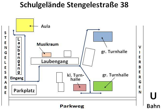 Schule Stengelestraße mit unseren Sportstätten