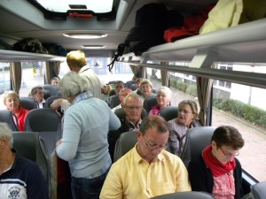 Platzsuche im Bus